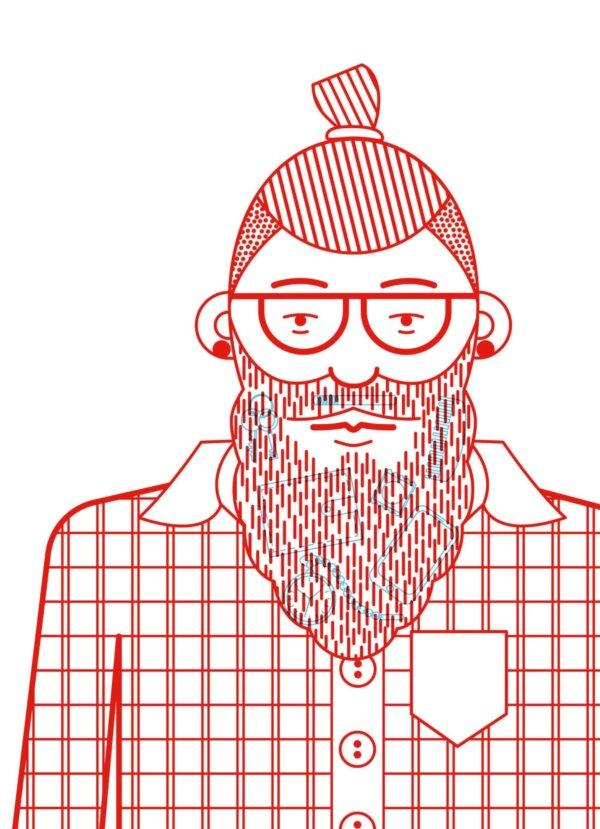 Plakát / Hipster